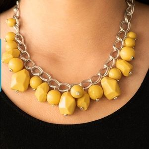 Gorgeously Globetrotter - Yellow Necklace